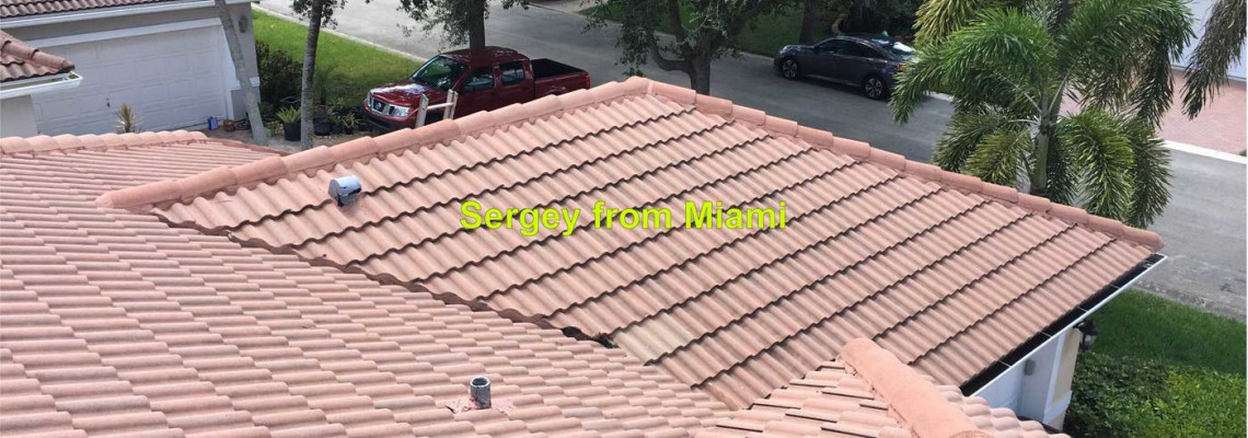 Minor roof repair in Broward county, Florida. Repair roof leak, roof repair, roofer, fix the roof