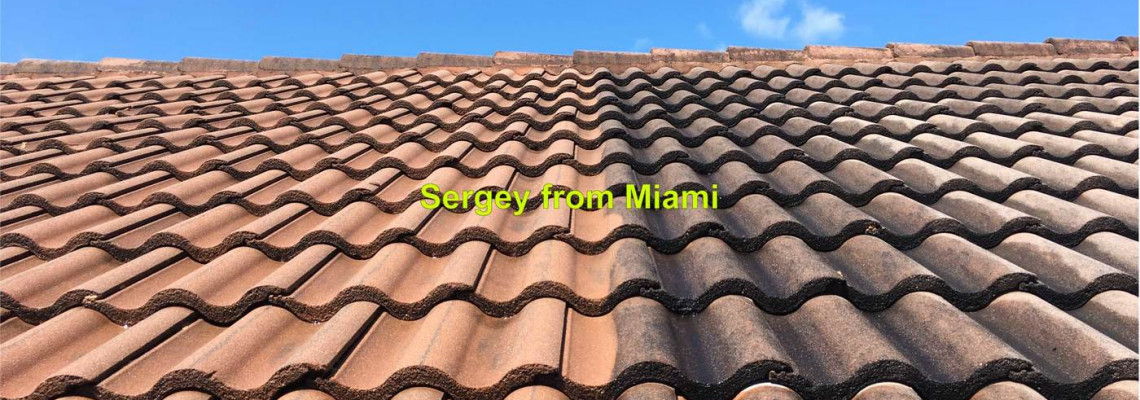 Pressure cleaning of the roof & gutters at 33rd Terrace, Fort Lauderdale, FL 33312