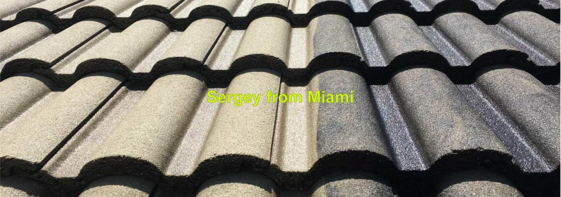 Pressure washing of roof at 9th Ct, Pembroke Pines, FL 33025