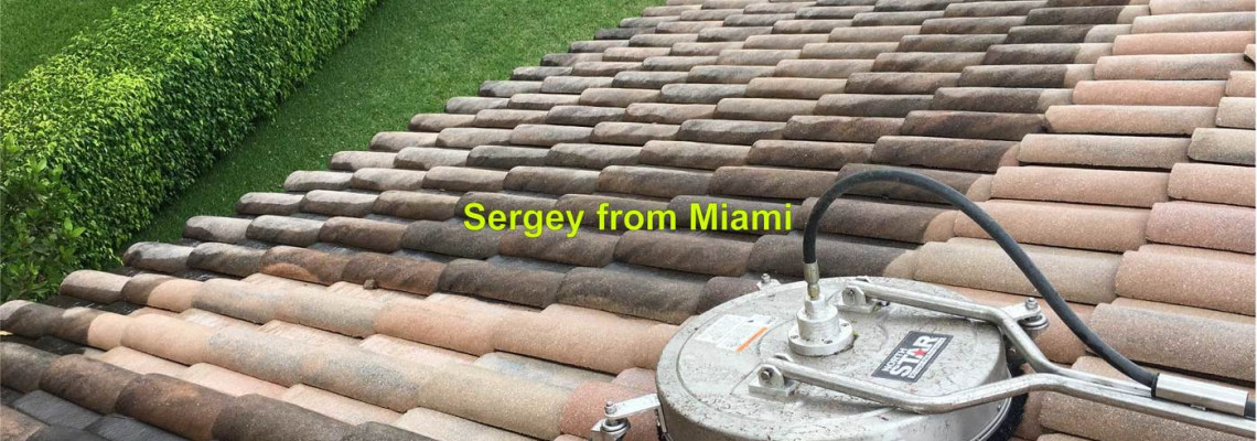 Pressure cleaning of the roof on 76 th Place Parkland FL 33076