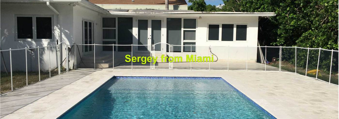 Pressure cleaning of the pool deck and patio at Miami View Drive, North Bay Village, FL 33141