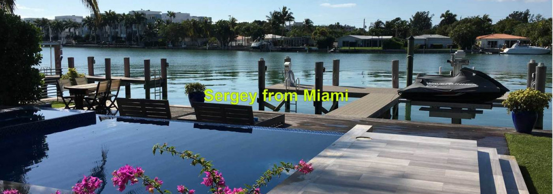 Pressure washing of the driveway, sidewalk, pool deck, and patio at Biscayne Point Rd, Miami Beach, Florida 33141