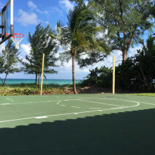 Pressure cleaning of the court Golden Beach, Florida
