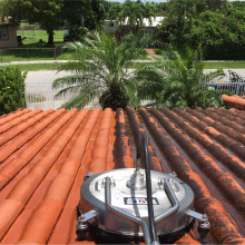 Pressure washing of the roof in Homestead, Florida #2