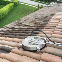 Pressure cleaning of the roof at Parkland, Florida #3