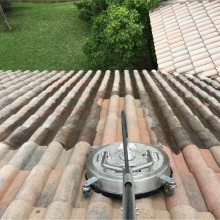 Pressure cleaning of the roof at Parkland, Florida #2